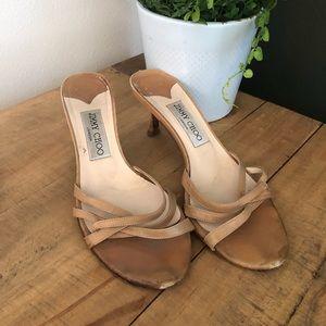 [Jimmy Choo] Nude Slip On Heels - Size 37